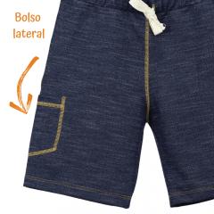 Bermuda Infantil Moletom Jeans