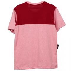 Camisa Infantil Vermelha Duas Cores com Bolso