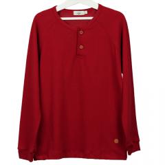 Camisa Infantil Manga Longa Vermelha